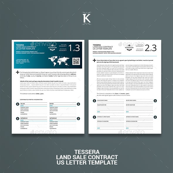 Tessera Land Sale Contract US Letter Template
