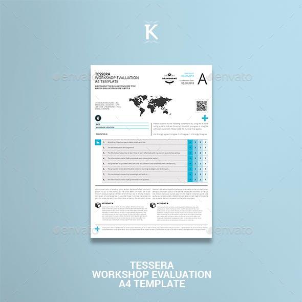 Tessera Workshop Evaluation A4 Template