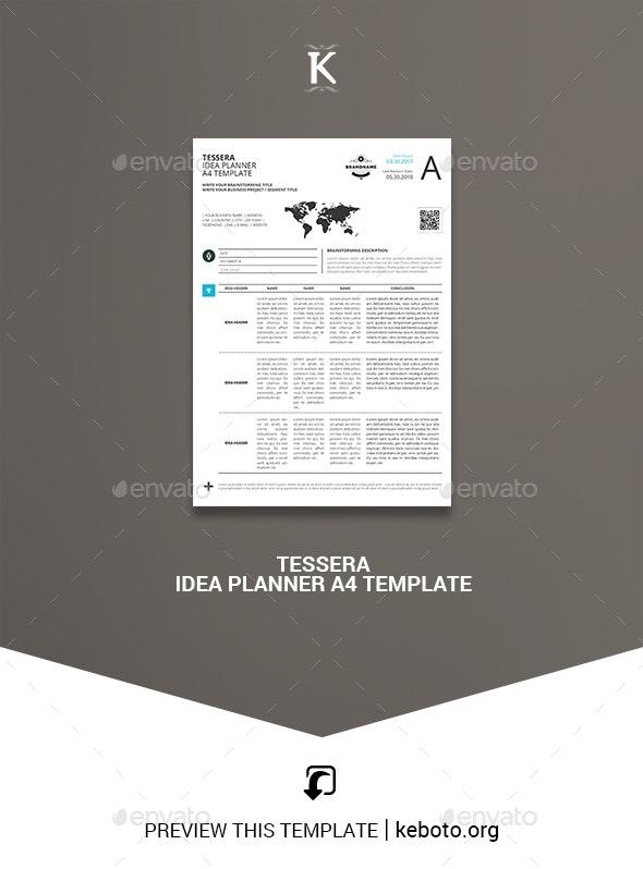 Tessera Idea Planner A4 Template - Miscellaneous Print Templates