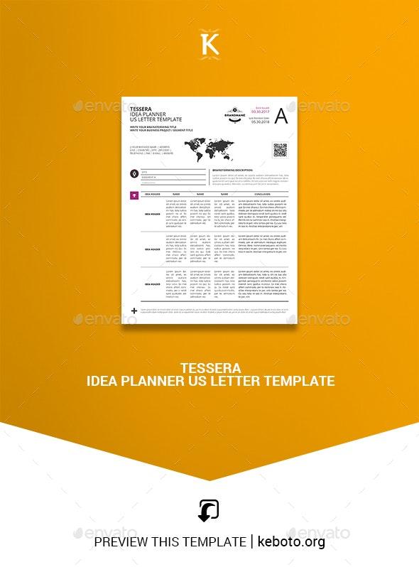 Tessera Idea Planner US Letter Template - Miscellaneous Print Templates