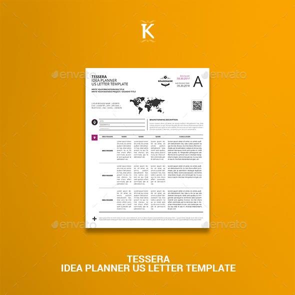 Tessera Idea Planner US Letter Template