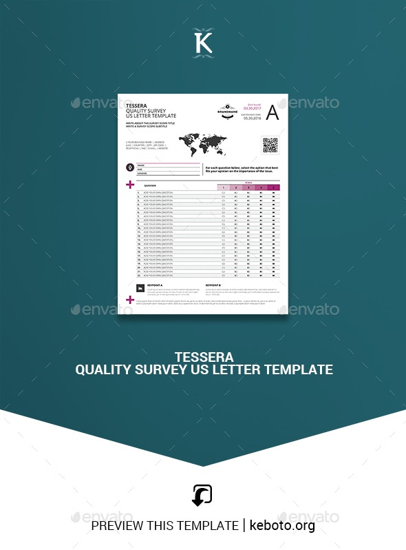 Tessera Quality Survey US Letter Template - Miscellaneous Print Templates