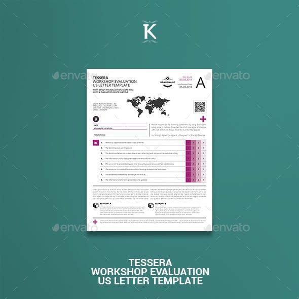 Tessera Workshop Evaluation US Letter Template
