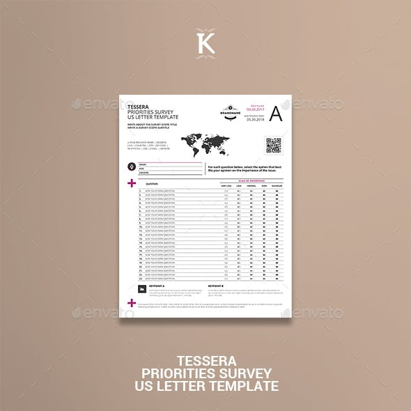 Tessera Priorities Survey US Letter Template