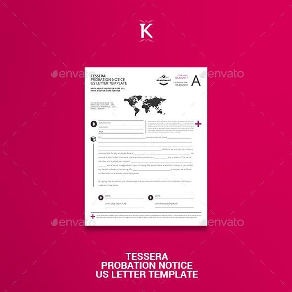 Tessera Probation Notice US Letter Template