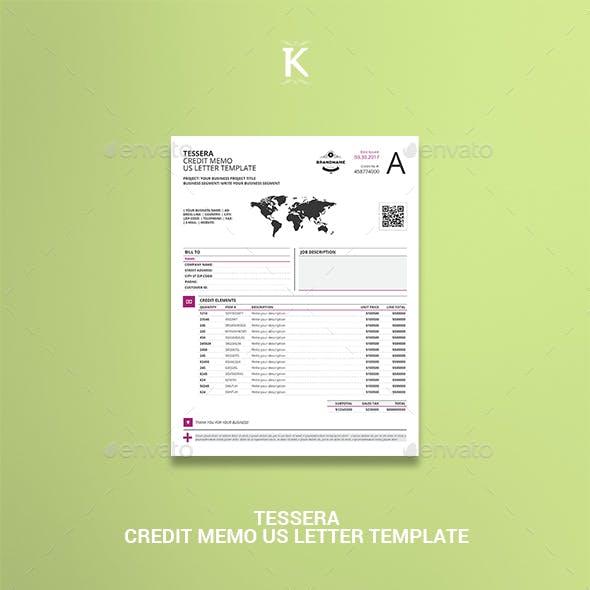 Tessera Credit Memo US Letter Template