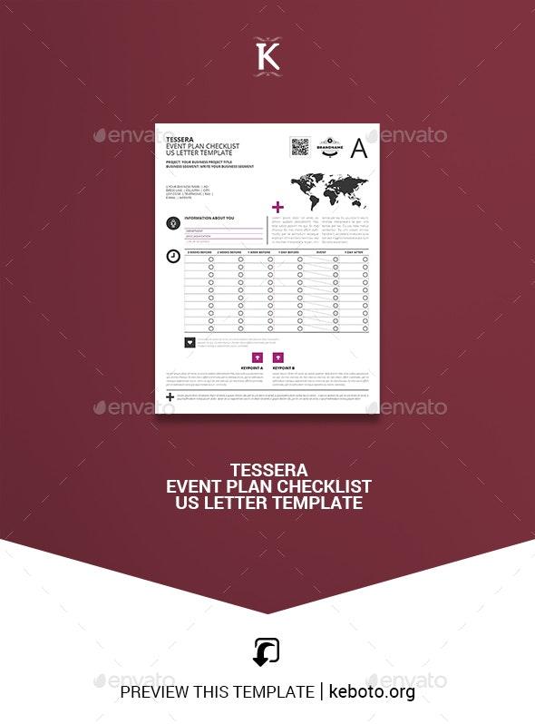 Tessera Event Plan Checklist US Letter Template - Miscellaneous Print Templates