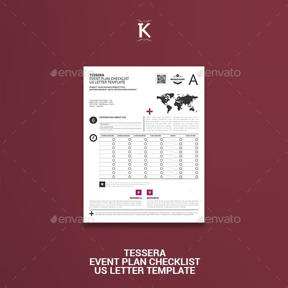 Tessera Event Plan Checklist US Letter Template