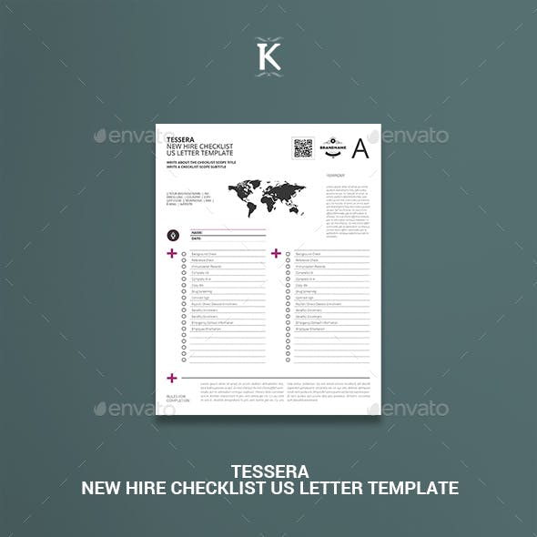 Tessera New Hire Checklist US Letter Template