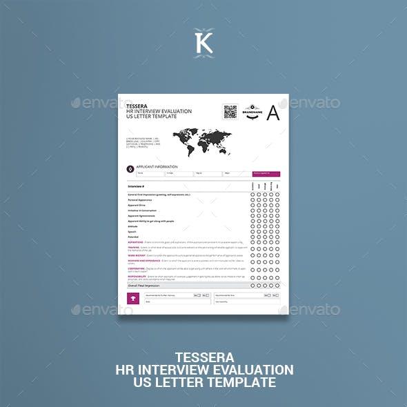 Tessera HR Interview Evaluation US Letter Template