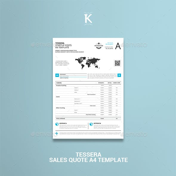Tessera Sales Quote A4 Template