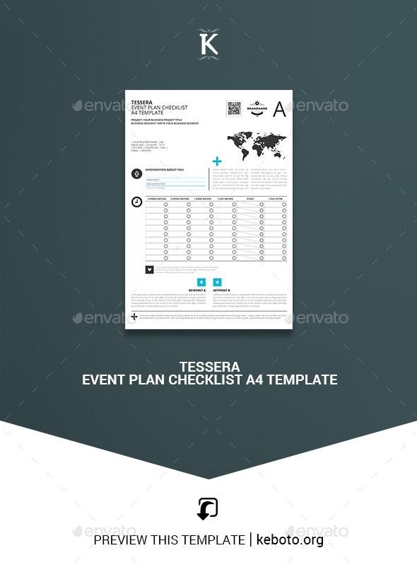 Tessera Event Plan Checklist A4 Template - Miscellaneous Print Templates
