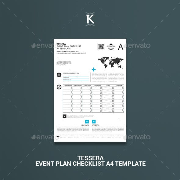 Tessera Event Plan Checklist A4 Template