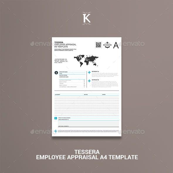 Tessera Employee Appraisal A4 Template