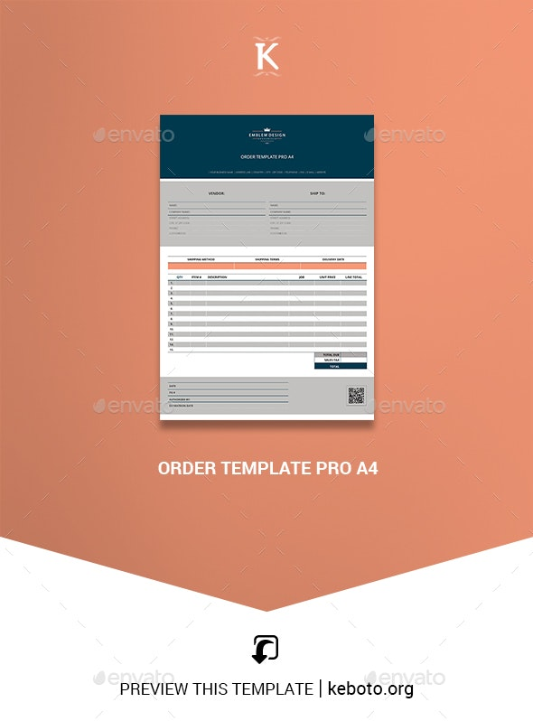 Order Template Pro A4 - Miscellaneous Print Templates