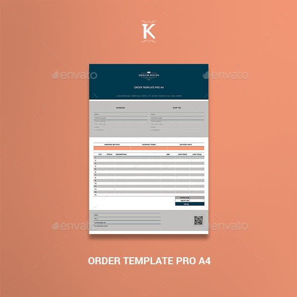 Order Template Pro A4