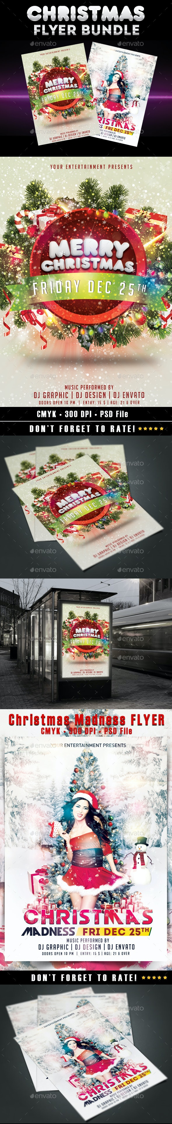 Christmas Flyer Bundle - Holidays Events