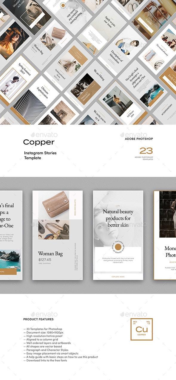 Copper — Instagram Story Templates - Social Media Web Elements