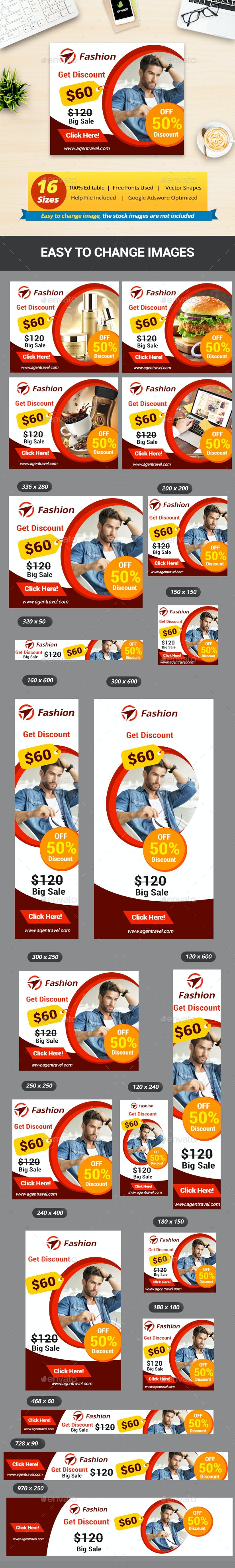 Multipurpose Sell Banner Ads Template - Banners & Ads Web Elements