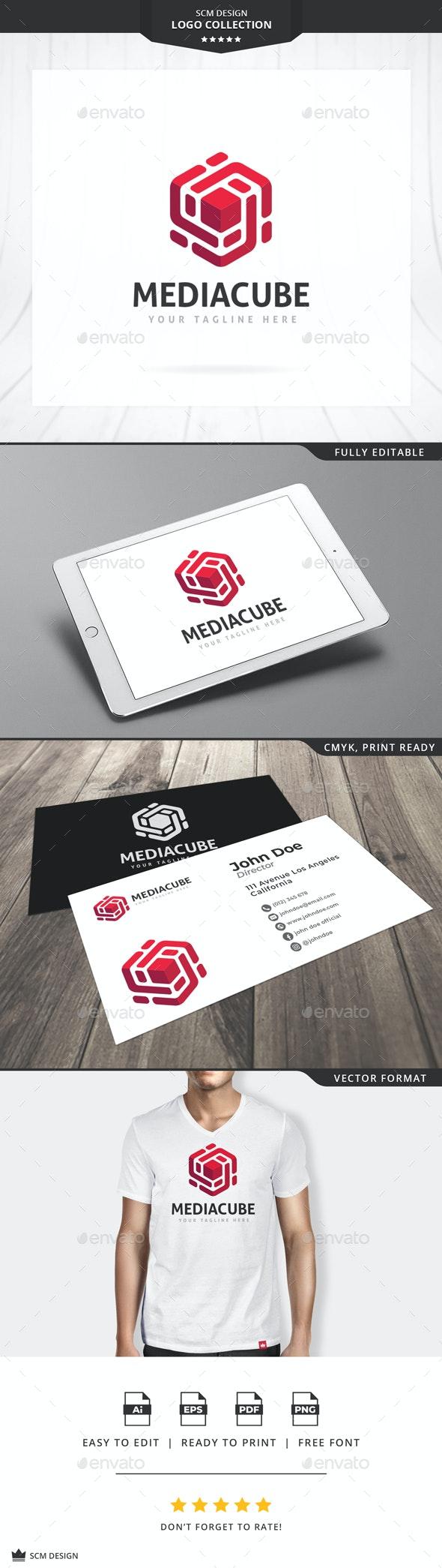 Media Cube Logo - 3d Abstract