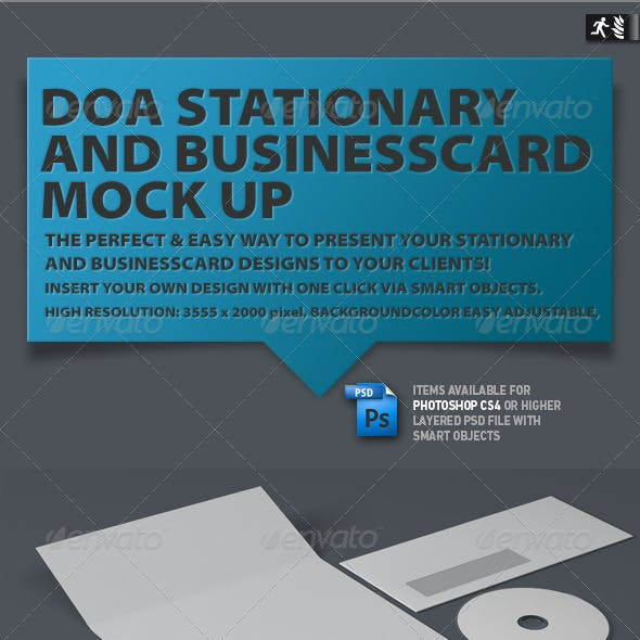 DOA Stationary and Business Card Mock up