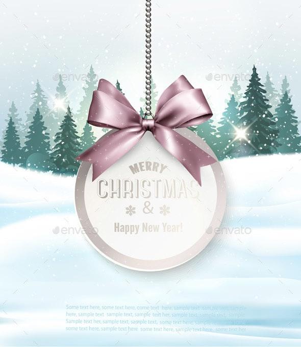 Christmas Holiday Decoration with Getting Card - Christmas Seasons/Holidays