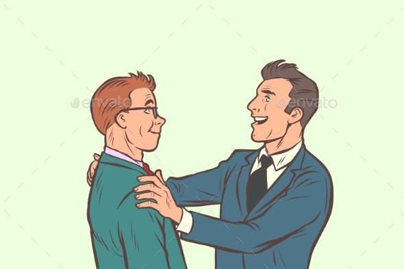 Businessmen Friendly Meeting - Business Conceptual