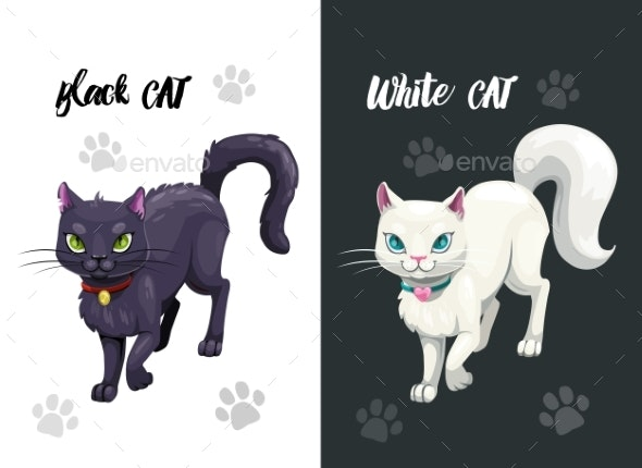 black and white cat characters black and white cat icons