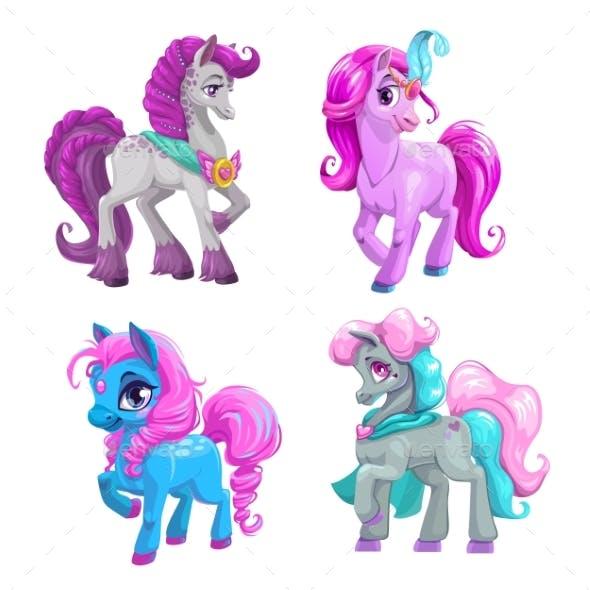 Cartoon Pony Princess Set