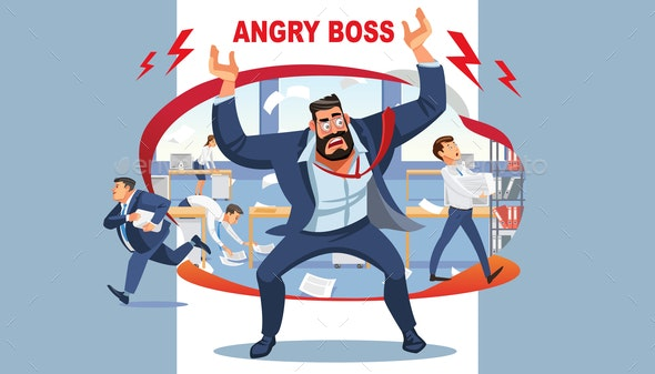 Angry Boss - People Characters