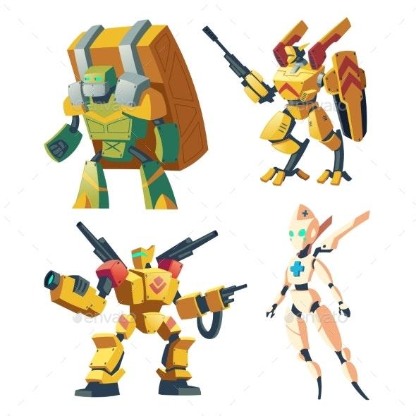 Vector Cartoon Robots - Miscellaneous Characters