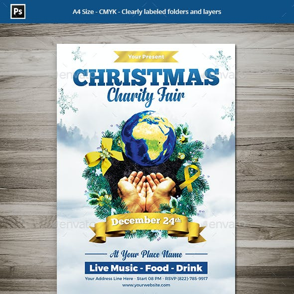Christmas Charity Flyer Template