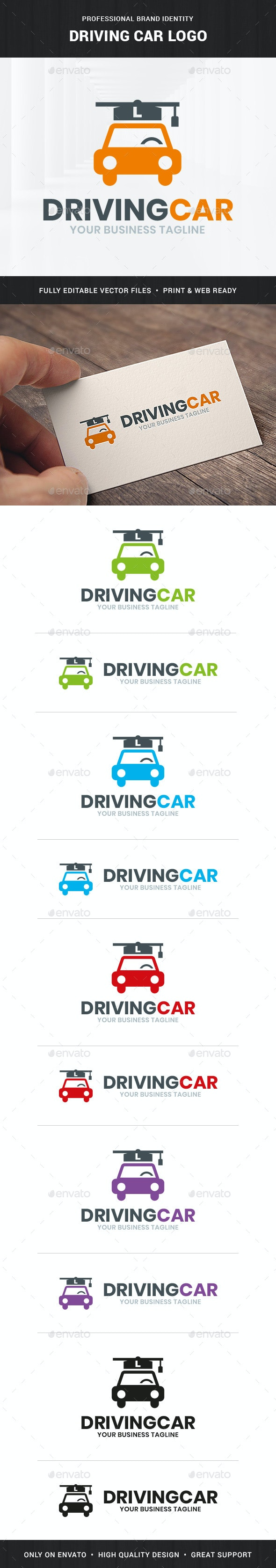 Driving School Logo Template - Objects Logo Templates