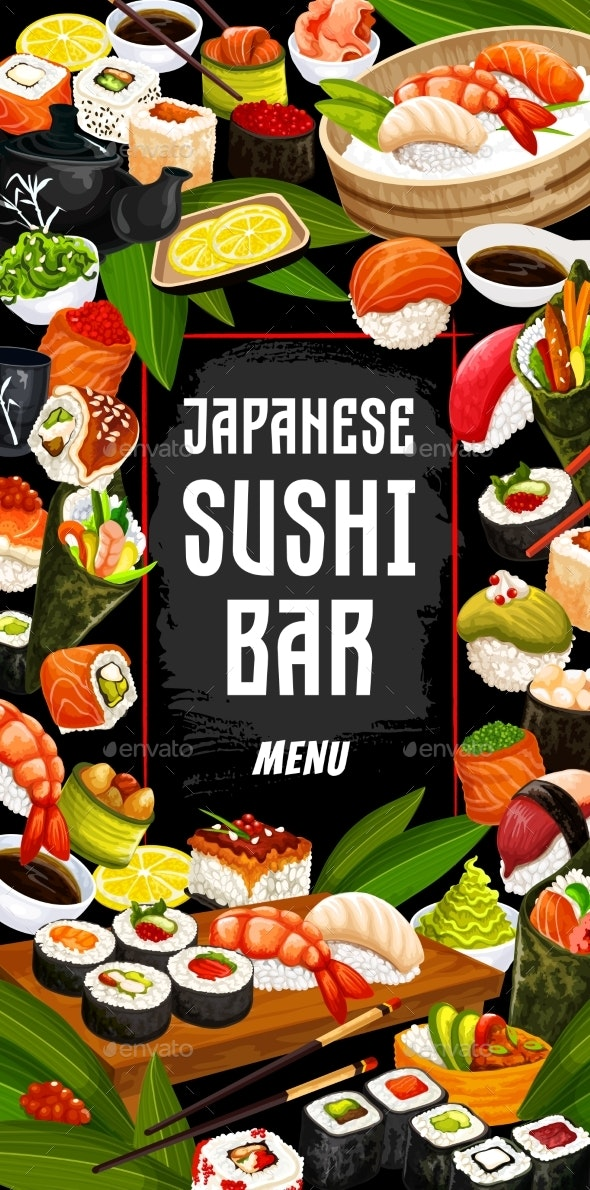 Japanese Sushi Bar and Cuisine - Food Objects
