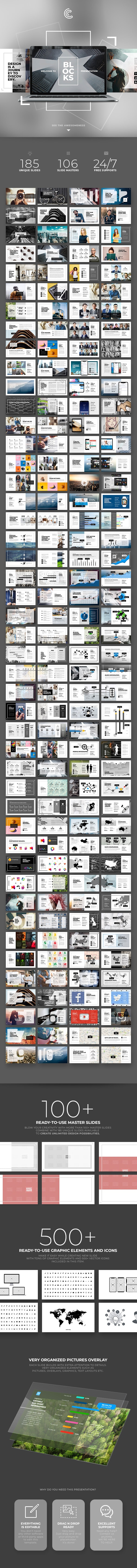Blocks PowerPoint - PowerPoint Templates Presentation Templates