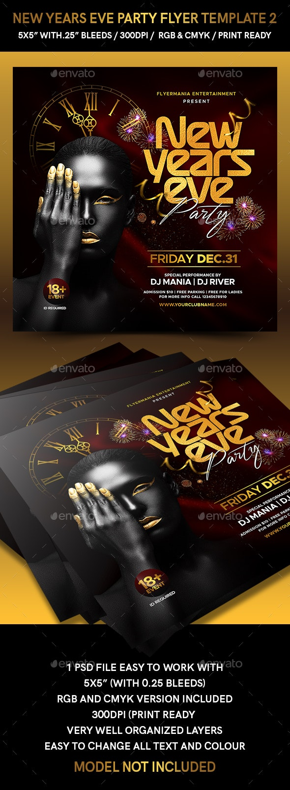 New Years Eve Party Flyer Template 2 - Events Flyers