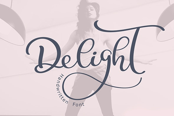 Calligraphy Wedding Decor Font Delight - Calligraphy Script
