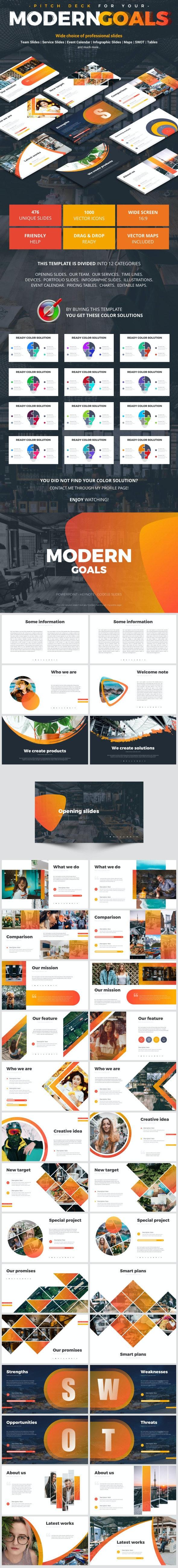 Modern Goals - Business PowerPoint Templates