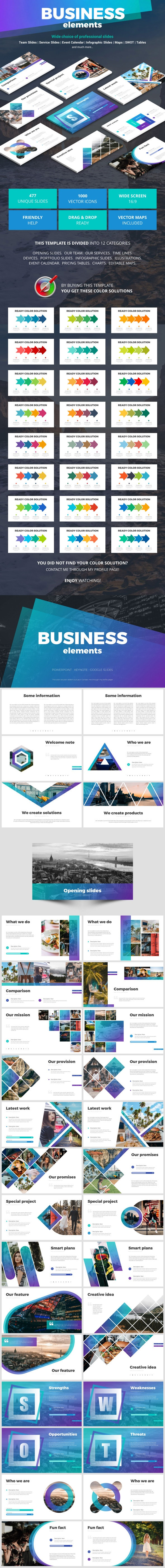 Business Elements - Business Keynote Templates