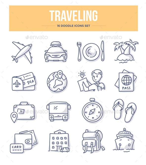 Traveling Doodle Icons - Miscellaneous Icons