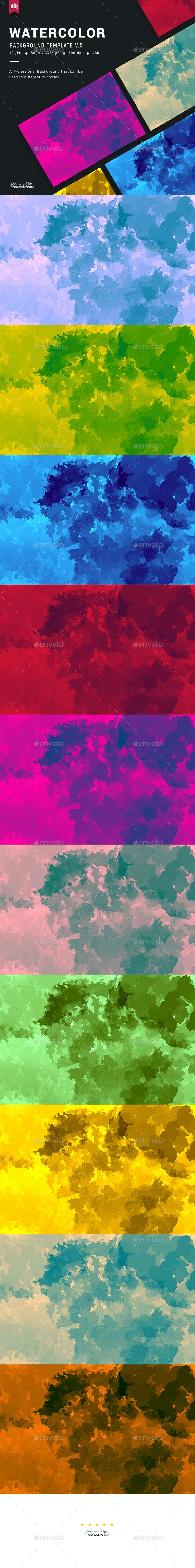 Watercolor V.5 - Background - Abstract Backgrounds