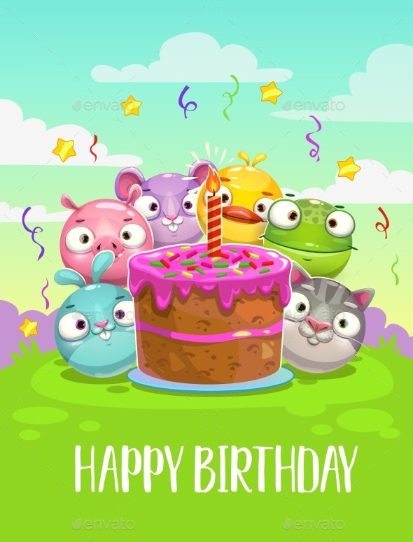 Happy Birthday Greeting Card - Birthdays Seasons/Holidays