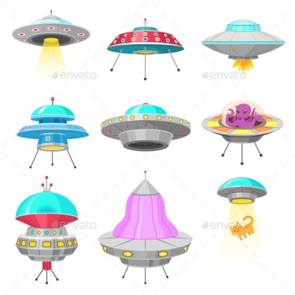 Alien Spaceships - Miscellaneous Vectors