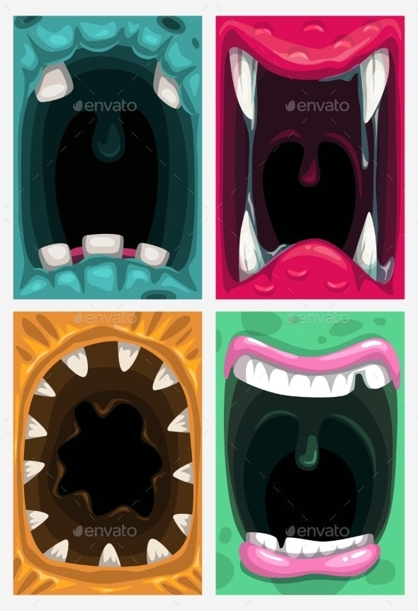 Scary Monster Mouth - Monsters Characters