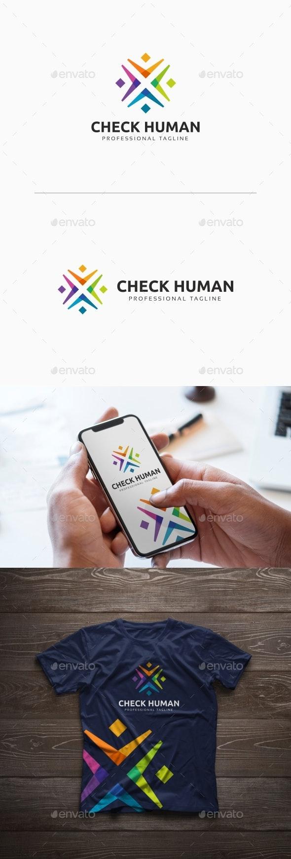 People Community Logo - Humans Logo Templates