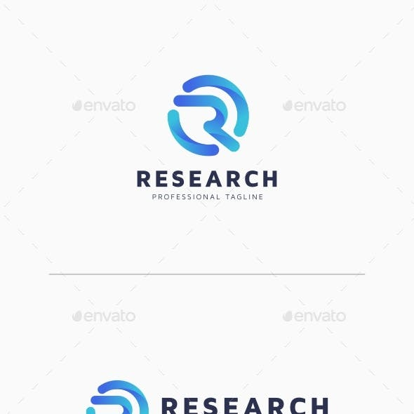 Research - R Letter Logo
