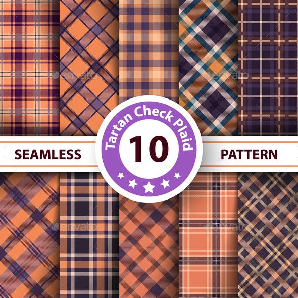 Classic Tartan and Plaid Seamless Patterns