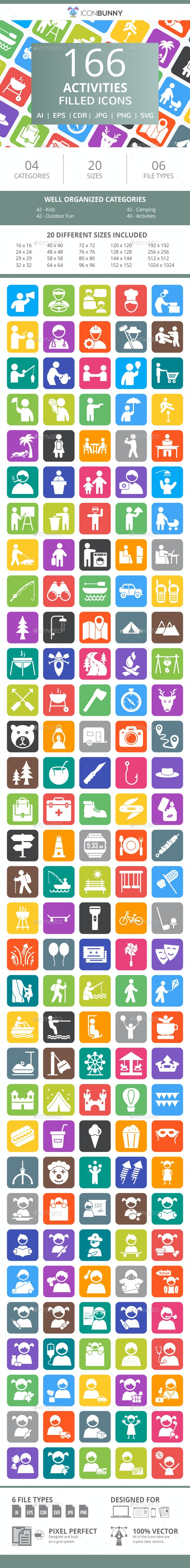 166 Transport Filled Round Corner Icons - Icons