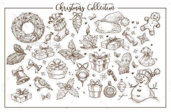 Christmas Collection of Symbolic Traditional - Christmas Seasons/Holidays