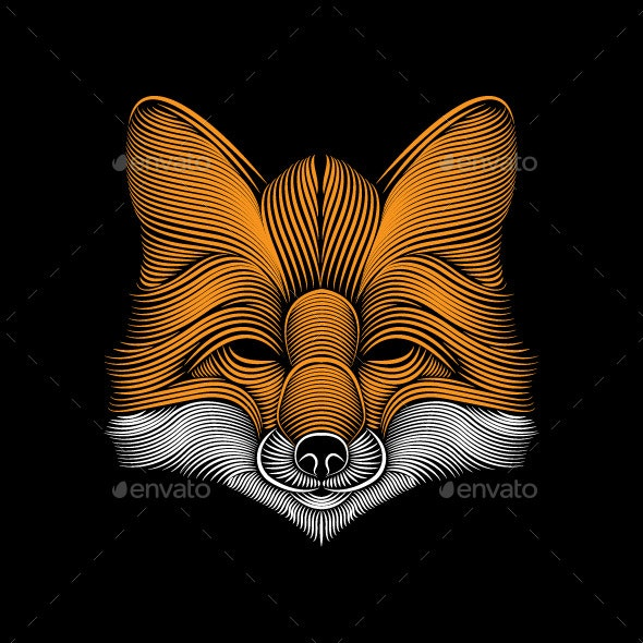 Fox Line Art - Animals Characters